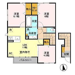 (仮)D-room平井町 C[2階]の間取り