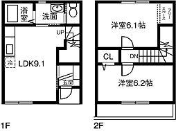 [テラスハウス] 愛知県丹羽郡扶桑町大字高雄 の賃貸【/】の間取り
