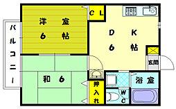 エルコート古賀駅東[1階]の間取り