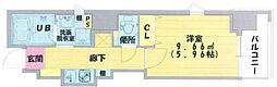 阪急神戸本線 中津駅 徒歩3分の賃貸マンション 3階1Kの間取り