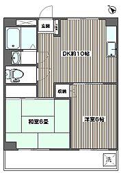 東都自動車浮間マンション[602号室]の間取り