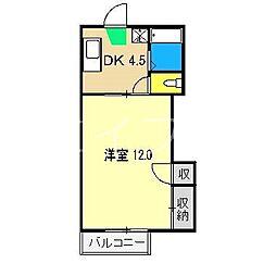 岡江ハイツ A棟[2階]の間取り