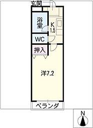 ベルエア21[2階]の間取り