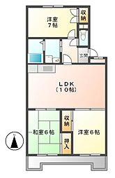 愛知県名古屋市守山区幸心2丁目の賃貸マンションの間取り