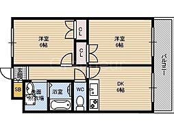 Mプラザ城東六番館[10階]の間取り