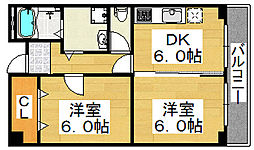ライフステージ大仙[5階]の間取り