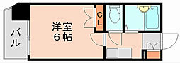 シャトー美野島[3階]の間取り