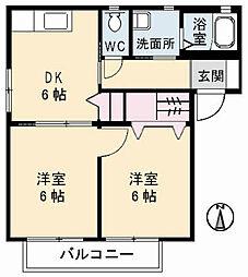 SQUARE35 B棟[1階]の間取り