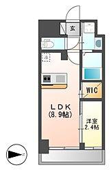 仮)ハーモニーレジデンス名古屋新栄[11階]の間取り