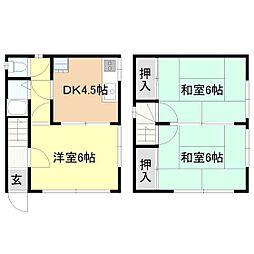 [一戸建] 茨城県取手市戸頭2丁目 の賃貸【/】の間取り