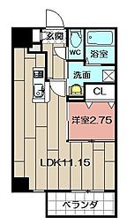 Studie TOBIHATA[305号室]の間取り