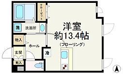 東京メトロ有楽町線 要町駅 徒歩3分の賃貸マンション 3階ワンルームの間取り
