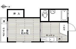 東京都新宿区天神町の賃貸マンションの間取り