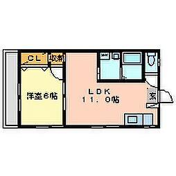 沼田第3マンション[101号室]の間取り