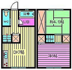 [テラスハウス] 埼玉県さいたま市大宮区高鼻町1丁目 の賃貸【/】の間取り