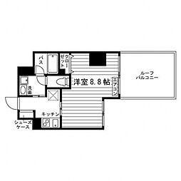 ARTIS仙台木町通 12階1Kの間取り