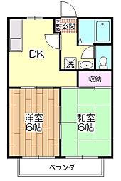 渡辺ハイツII[102号室]の間取り