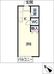 シャトレー近藤A[2階]の間取り