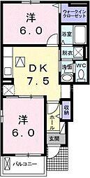 ラ・ルーチェA[1階]の間取り