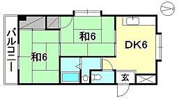 浅野サンハイツ[205 号室号室]の間取り