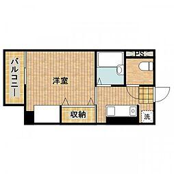 アイルイン武蔵新城[205号室]の間取り