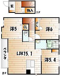 リアンK サード[2階]の間取り