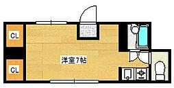 兵庫県神戸市灘区鹿ノ下通1丁目の賃貸アパートの間取り