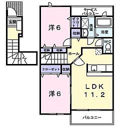 パンテオン B[2階]の間取り