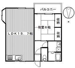 KGハイツV[A202号室号室]の間取り