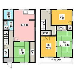 [テラスハウス] 愛知県弥富市五明2丁目 の賃貸【愛知県 / 弥富市】の間取り