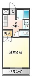 コーポリジェールA[2階]の間取り