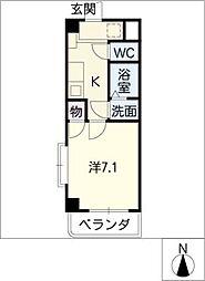 セレブリティキャロル[4階]の間取り