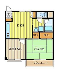 赤塚マンション[306号室]の間取り