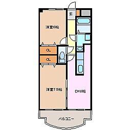三重県四日市市大矢知町の賃貸マンションの間取り