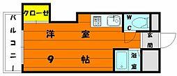 プレアール唐原II[2階]の間取り