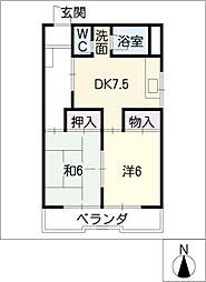 メゾンタカモ[3階]の間取り