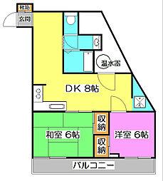 第二甲田ビル[3階]の間取り