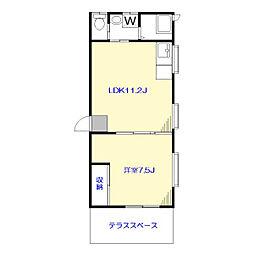 K邸[1F号室]の間取り