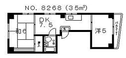 タメキマンションII[301号室号室]の間取り