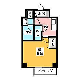 GRAN PASEO 神楽坂 3階1Kの間取り