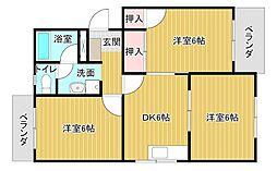 ノンパレイユ笠井[3階]の間取り