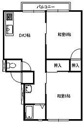 ハイツフォルテ B[2階]の間取り