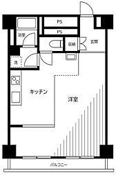 東京メトロ銀座線 銀座駅 徒歩8分の賃貸マンション 3階ワンルームの間取り