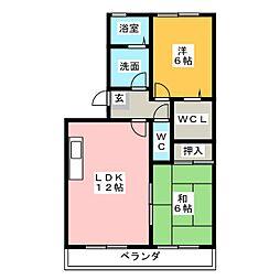セジュール緑苑21[2階]の間取り