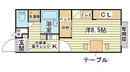 レオパレス福田[102号室]の間取り
