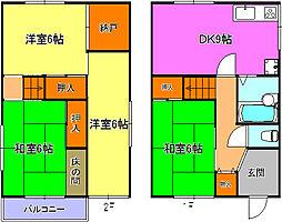 [一戸建] 兵庫県明石市大久保町わかば の賃貸【/】の間取り