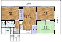 サンフェニックス21[2階]の間取り