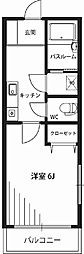 シフォンコート[3階]の間取り