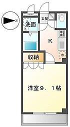 しなの鉄道 西上田駅 徒歩25分の賃貸アパート 1階1Kの間取り