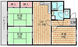 エトワール御崎[3階]の間取り